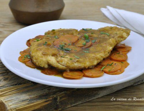 Petto di pollo carote e aceto balsamico