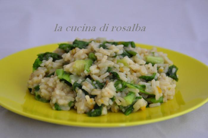 risotto con la lattuga | ricetta la cucina di rosalba
