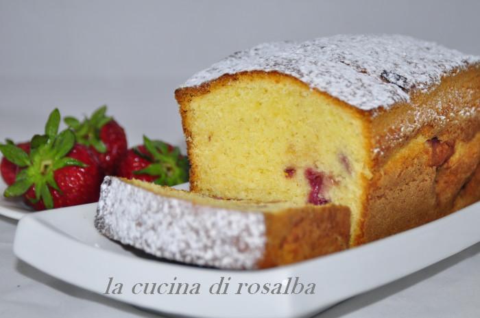 plum cake alle fragole | ricetta la cucina di rosalba