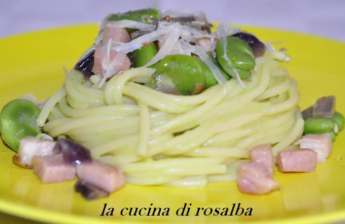 pasta con fave fresche e prosciutto cotto   ricetta la cucina di rosalba