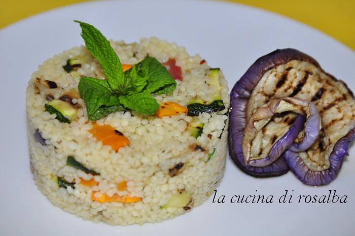 cous cous freddo alle verdure grigliate ricetta