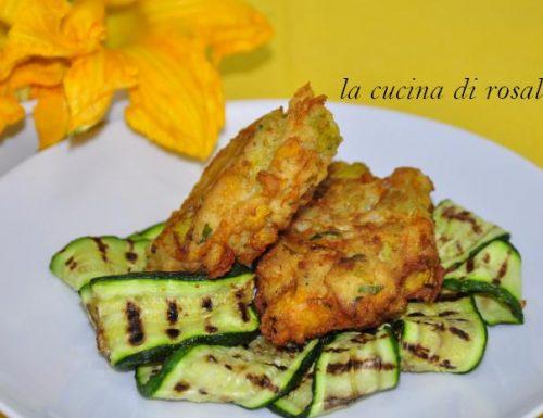 frittatine con fiore di zucca