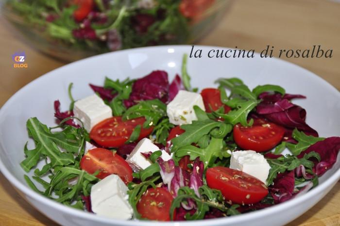 insalata mista di verdure crude