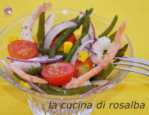 insalata di fagiolini cipolla e pomodorini