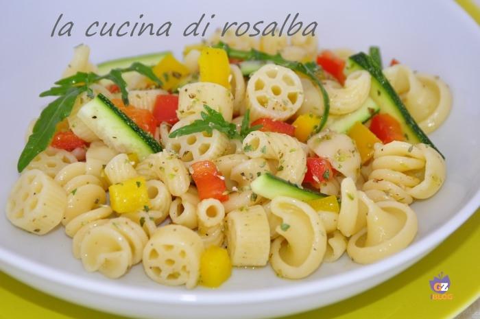 insalata di pasta con verdure crude ricetta la cucina di rosalba