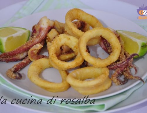 frittura di calamari freschi