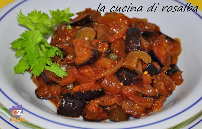 caponata di melanzane siciliana ricetta la cucina di rosalba