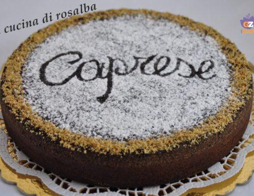 torta caprese al cioccolato fondente