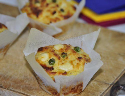 muffin di patate e piselli