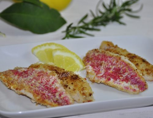 Filetti di triglia limone e rosmarino