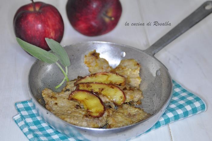 fettine di vitello alle mele | ricetta la cucina di rosalba