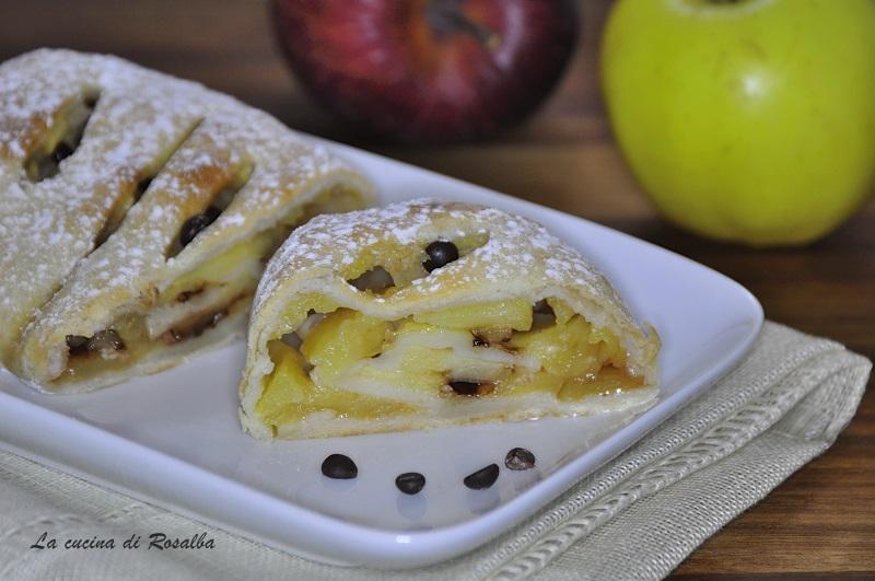 strudel di mele   ricetta la cucina di rosalba