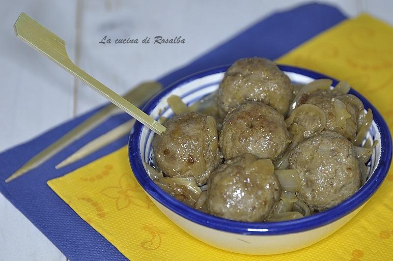 mini polpette in agrodolce   ricetta la cucina di rosalba