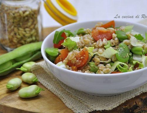 Insalata di farro perlato con verdure