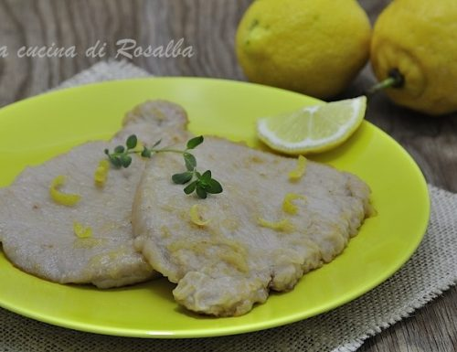 Lonza di maiale al limone