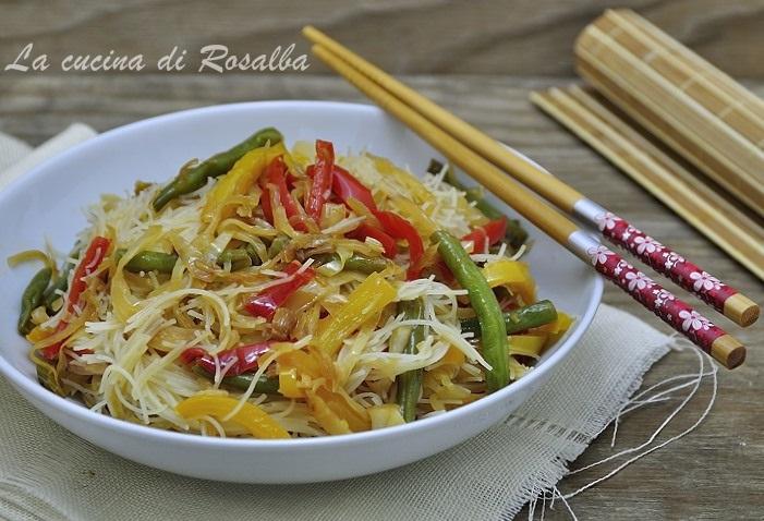 spaghetti di riso alle verdure ricetta la cucina di rosalba