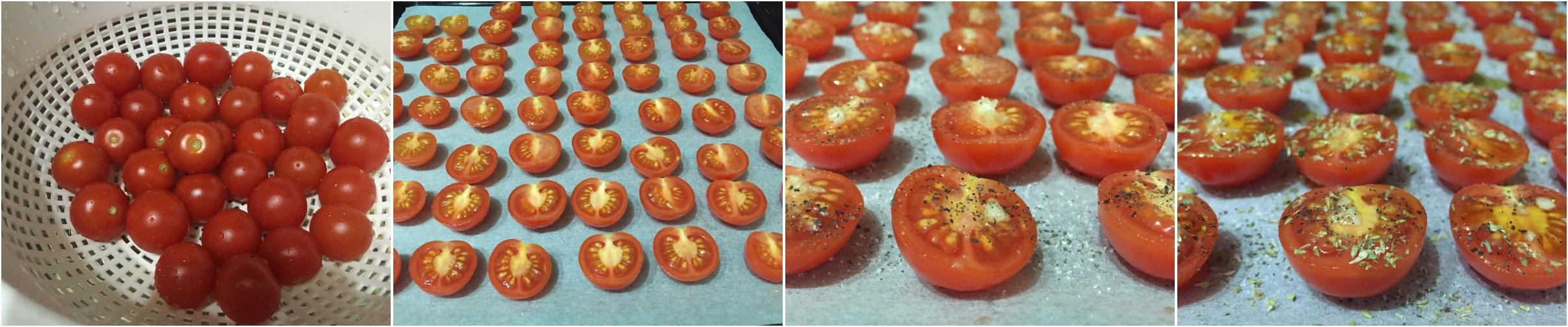 preparazione pomodorini confit
