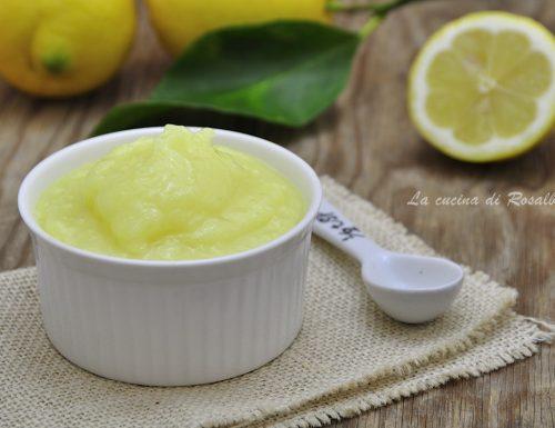 Lemon curd senza uova