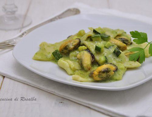 Maltagliati con zucchine e cozze