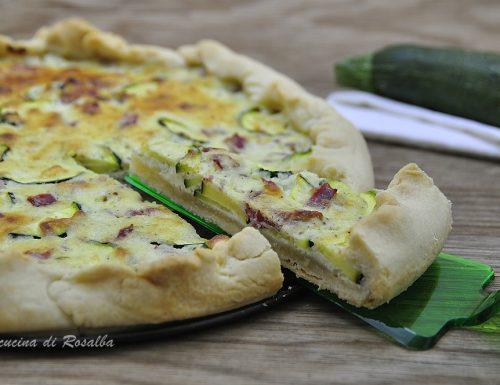 Torta salata con zucchine e bresaola