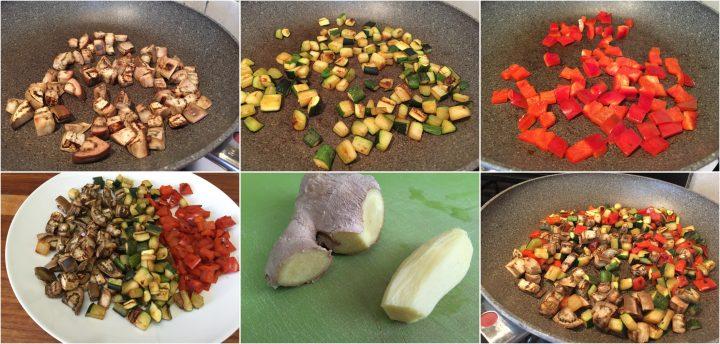 preparazione verdure miste in padella