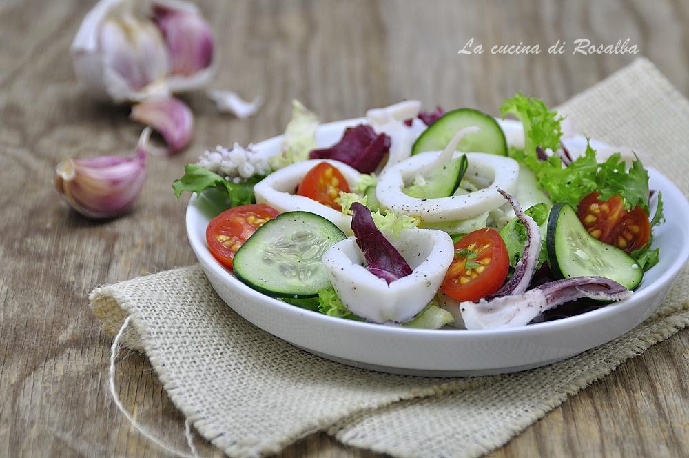Insalata di calamari e verdure