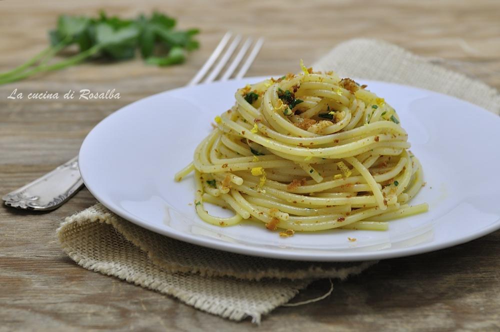 Spaghetti con la bottarga e limone