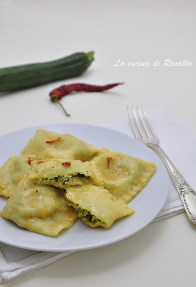 ravioli di zucchine e ricotta