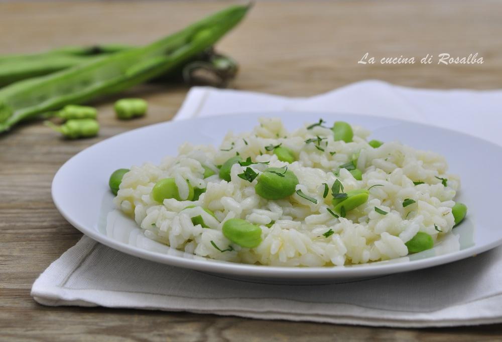 risotto con le fave fresche - ricette con le fave