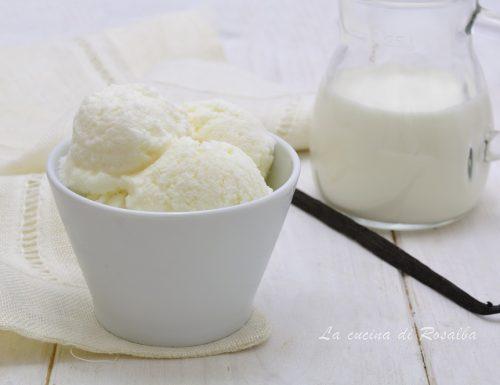 Gelato fiordilatte senza gelatiera