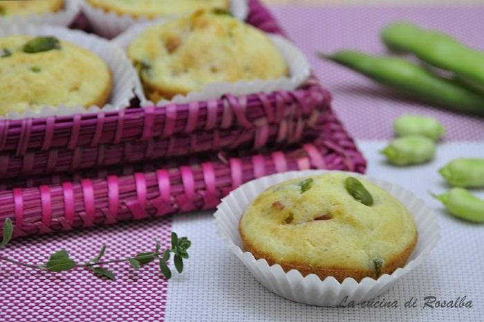 muffin salati alle fave - ricette con le fave