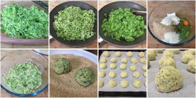procedimento polpette di zucchine e ricotta al forno