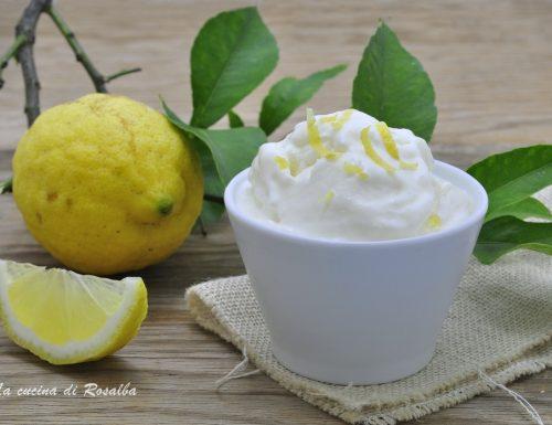 Gelato al limone senza gelatiera