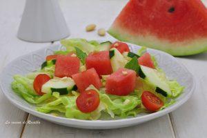 Insalata di anguria cetrioli e pomodori