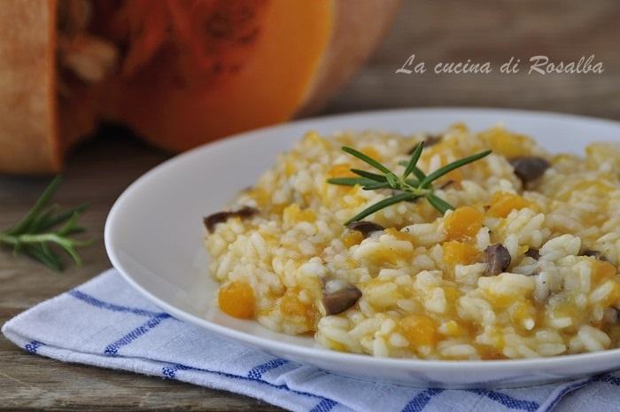 risotto zucca e olive nere - raccolta di ricette con la zucca