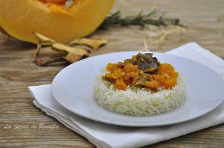 riso pilaf con zucca e funghi porcini - raccolta di ricette con la zucca