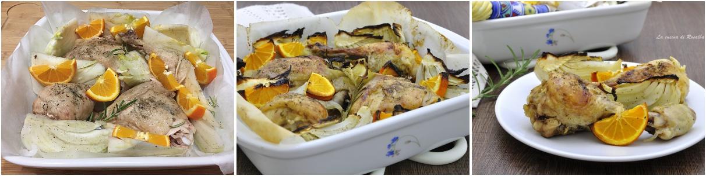 procedimento pollo al forno con finocchi e arance