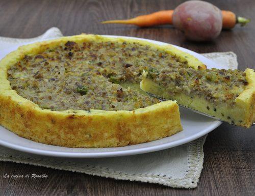 Crostata di patate al ragù