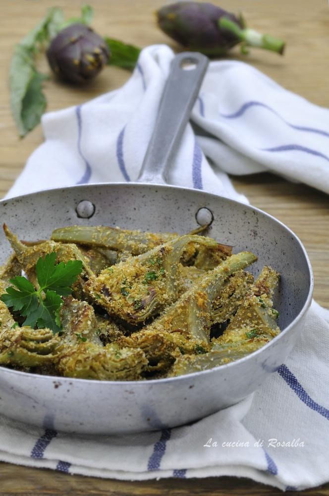 carciofi gratinati in padella - ricetta contorno