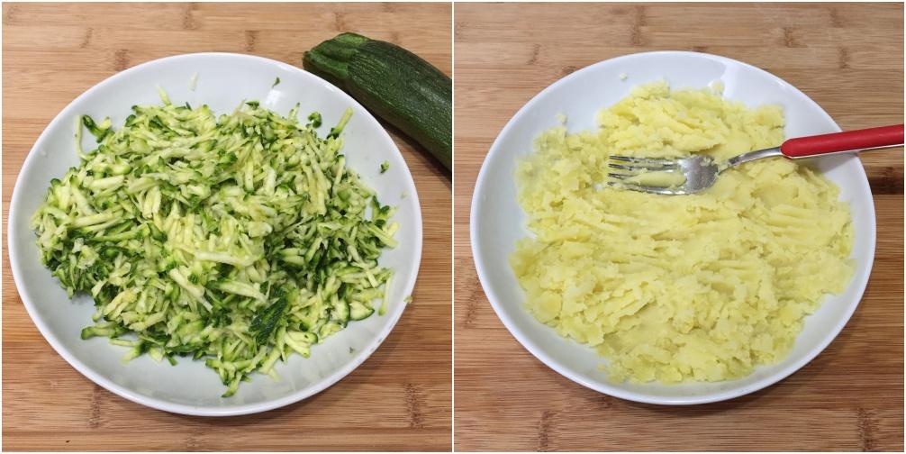 polpette di zucchine e patate, passo 1