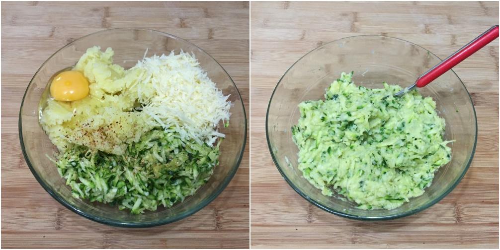 polpette di zucchine e patate, passo 2