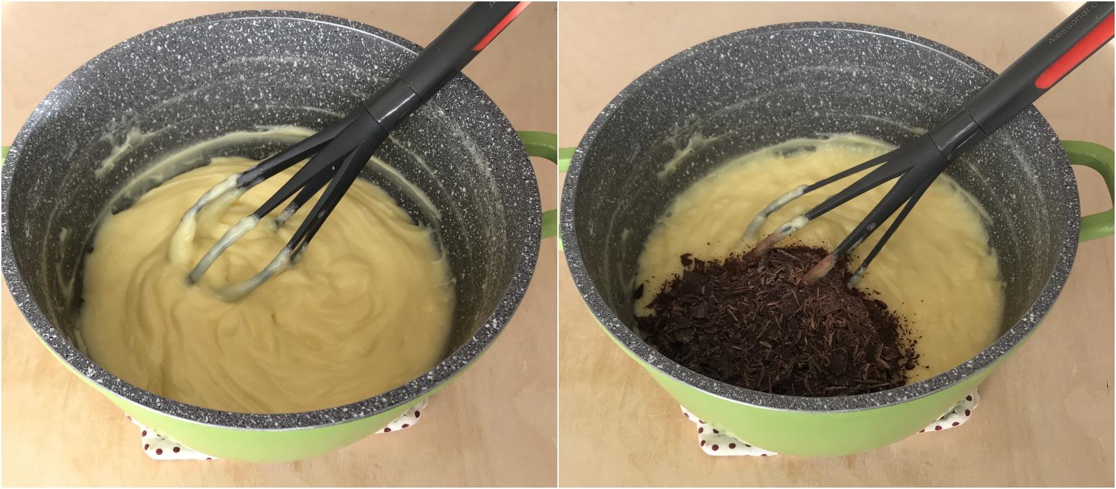 crema diplomatica al cioccolato