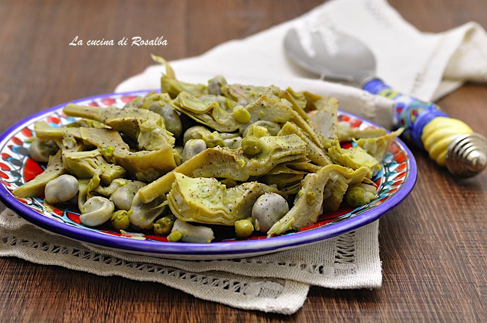 FRITTELLA PALERMITANA, ricetta tradizionale con carciofi, fave e piselli