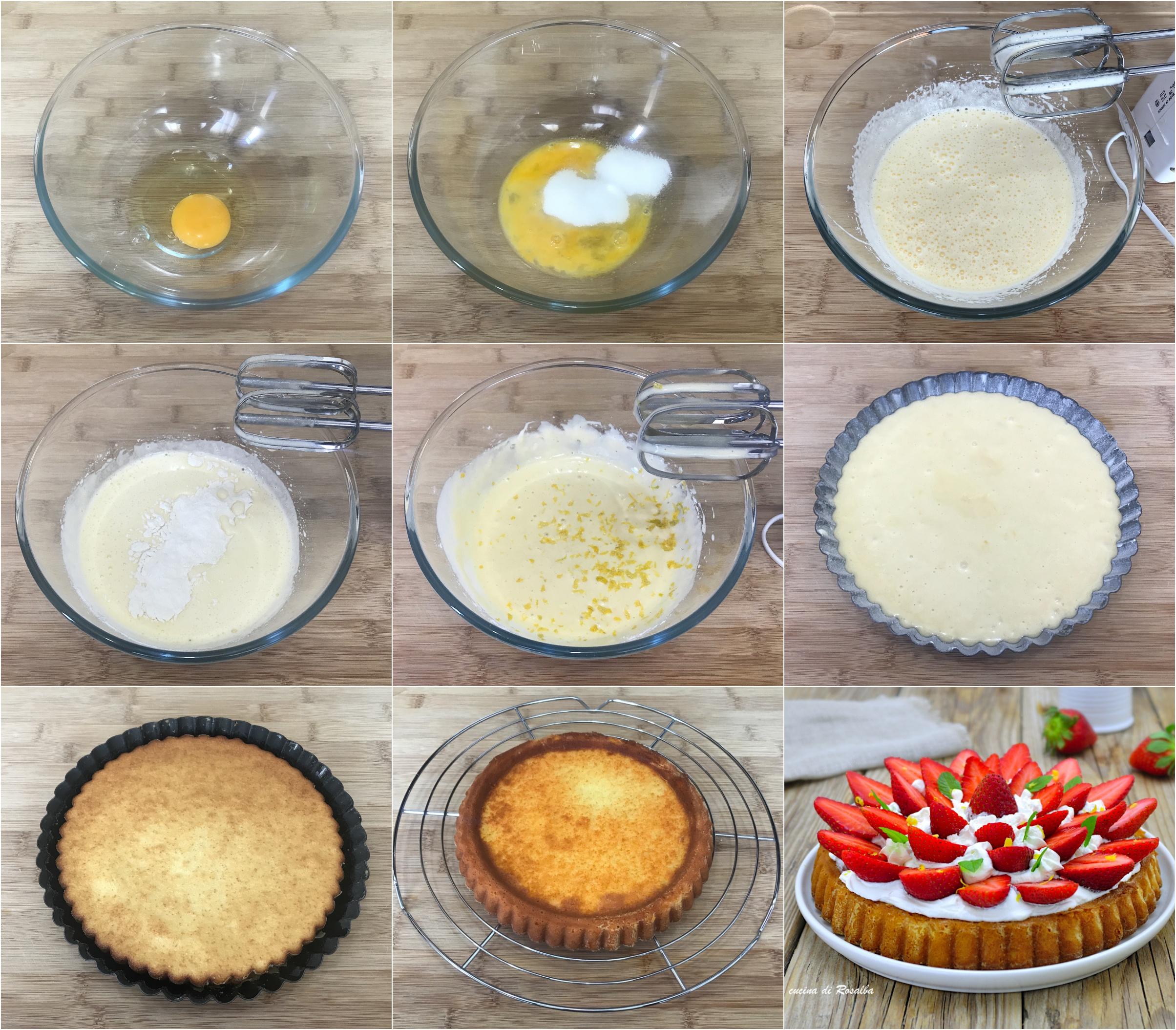 come preparare la crostata morbida fragole e panna