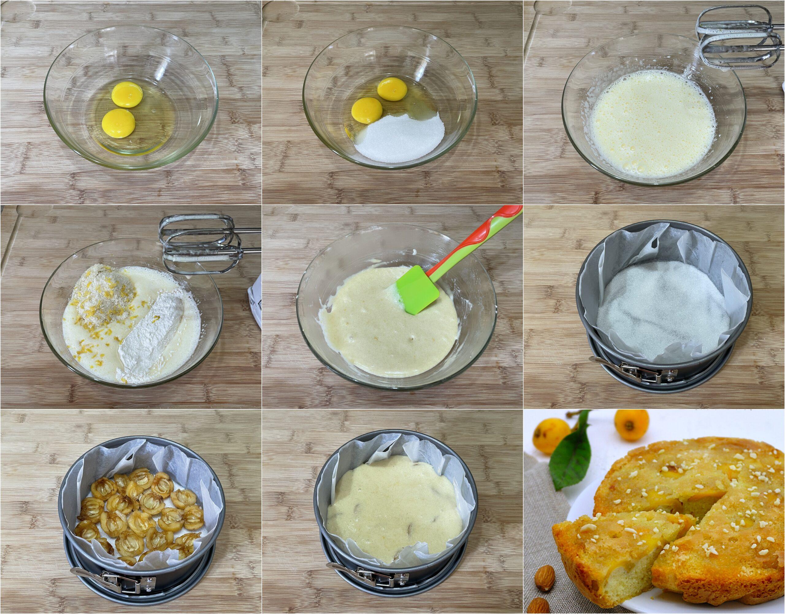 COME PREPARARE LA TORTA CARAMELLATA ALLE NESPOLE