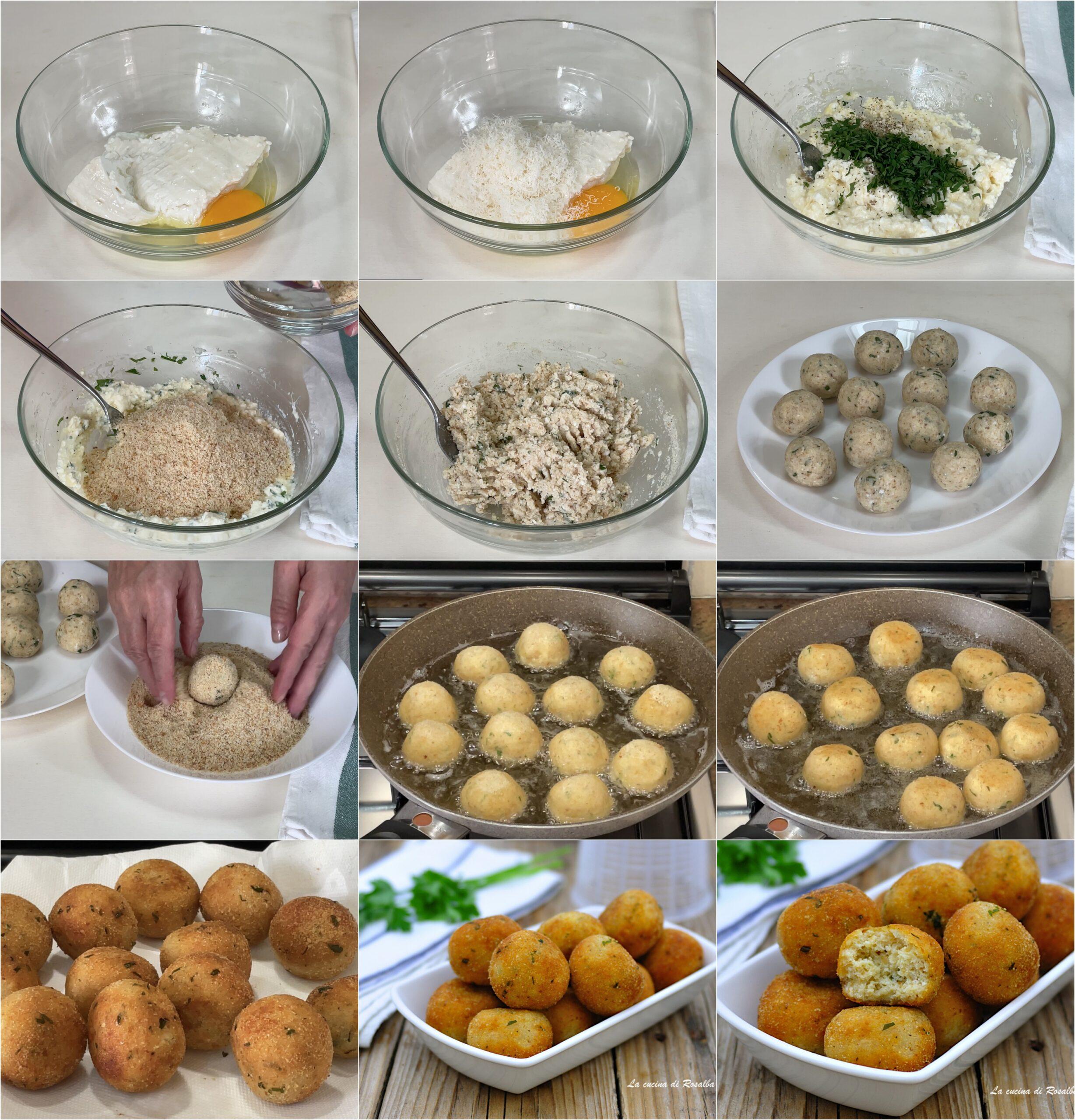 come preparare polpette di ricotta fritte