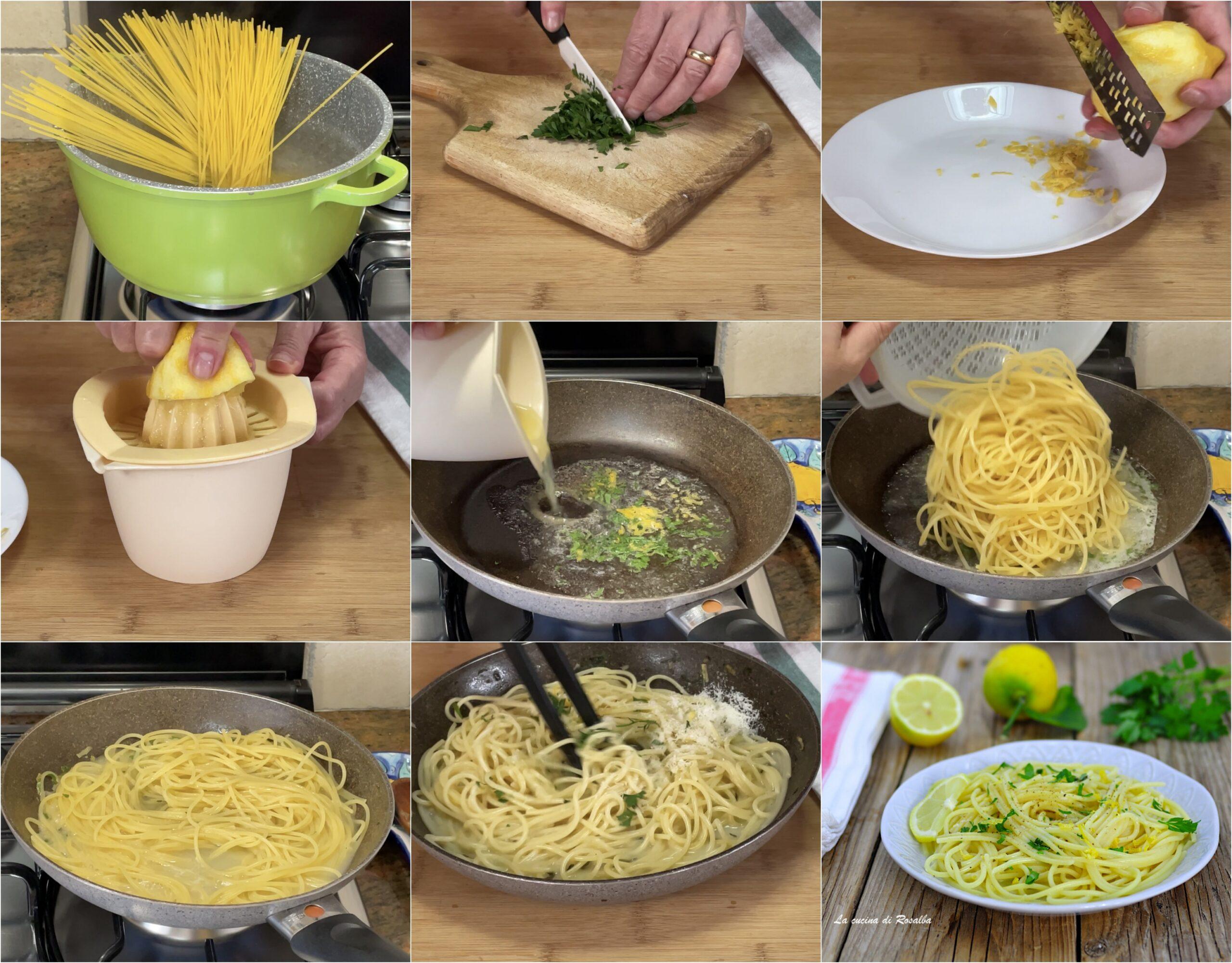 come preparare gli spaghetti al limone