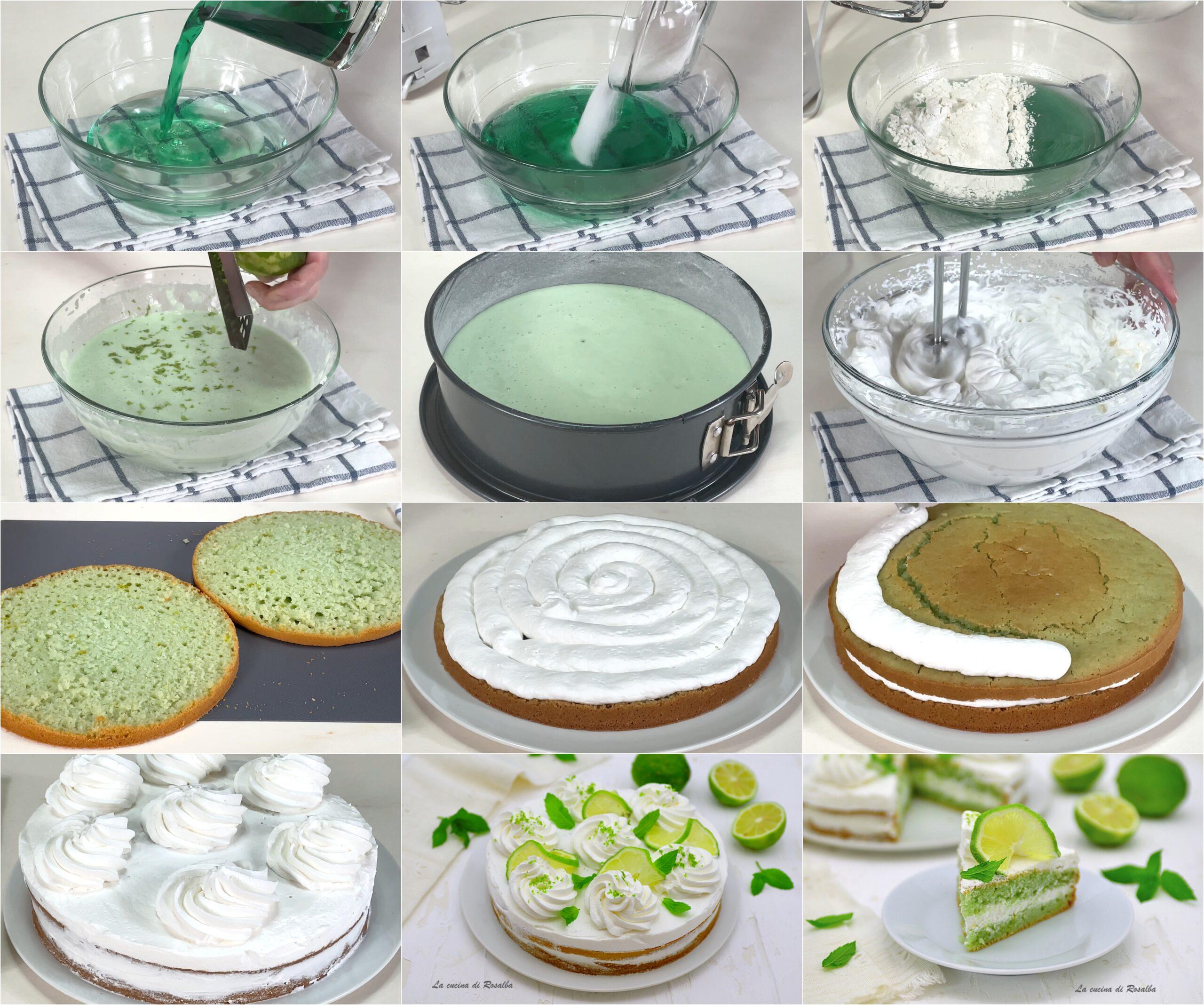 ricetta torta alla menta e lime senza uova