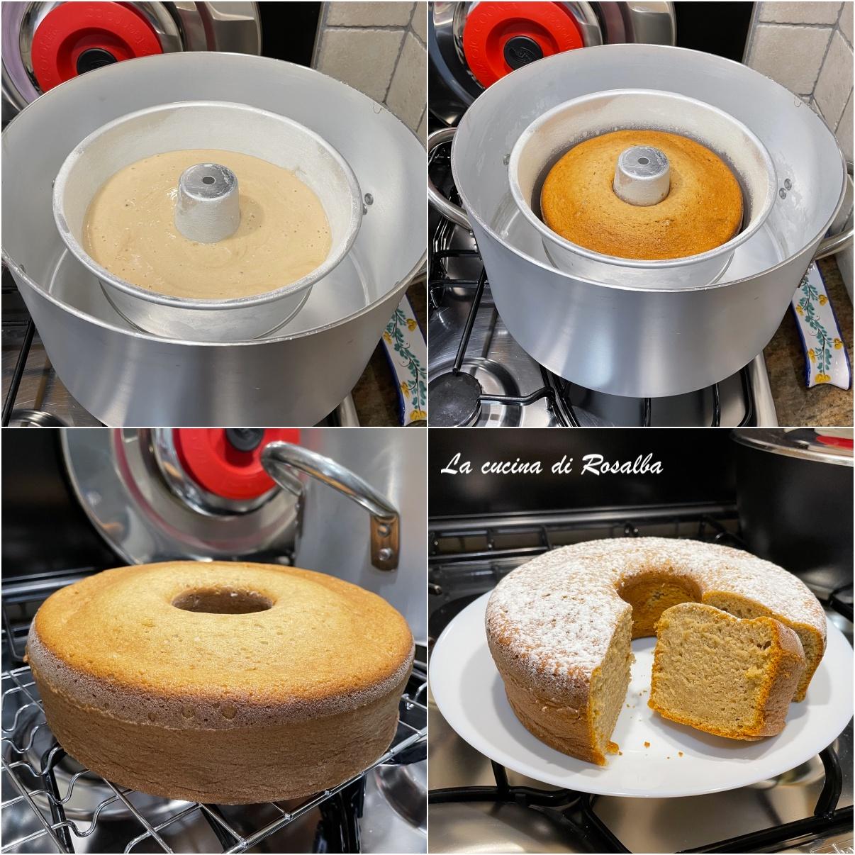 Ciambellone albumi yogurt e caffè, nel kit forno Magic Cooker