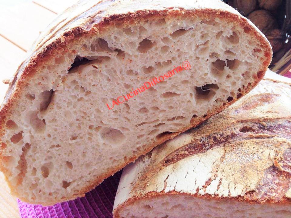 Pane con siero di frutta fermentata e lievito madre